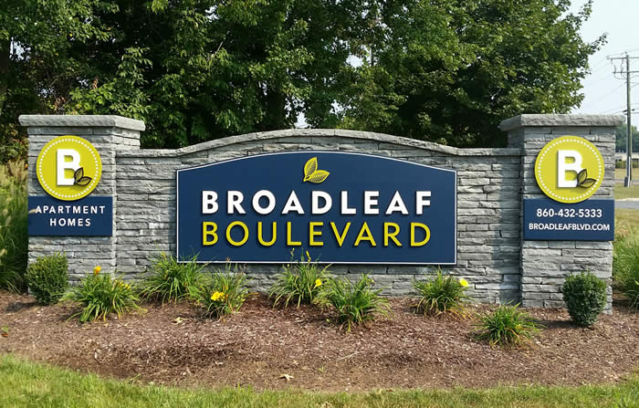 Broadleaf blvd entry signage