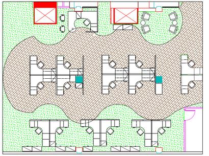 Business floor plan design