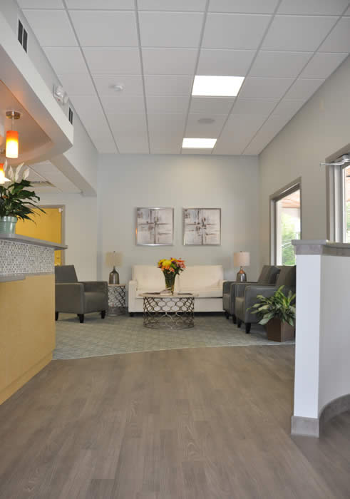 seating area in dental practice