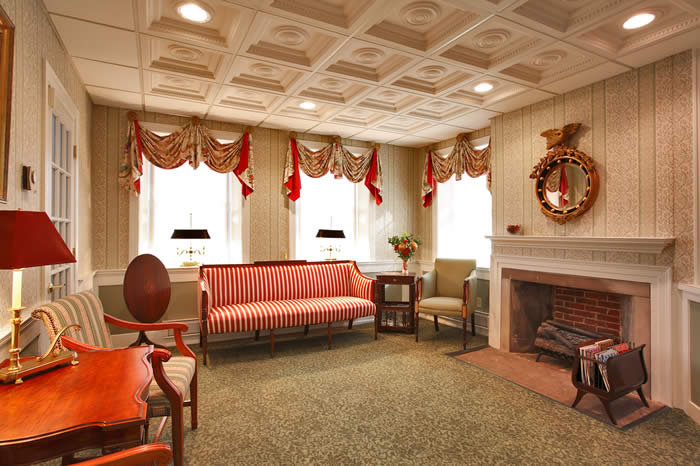Fx design inc historical projects for Federal style interior decorating