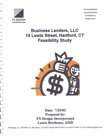 Business Lenders LLC, Feasibility Study, cover sheet