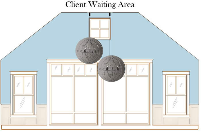 Gottfried & Somberg Wealth Management future waiting area elevation