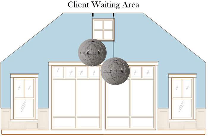 waiting area rendering