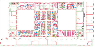 AutoCAD Plan for ST of CT Consumer Action Center lobby