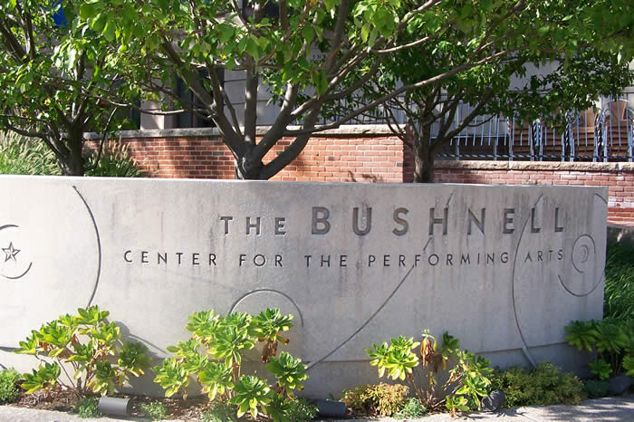 The Bushnell exterior signage