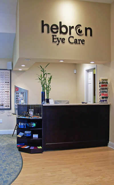 Hebron Eye Care check in unit