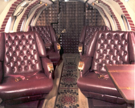 Photo of the Hawker Jet interior beforer renovation.