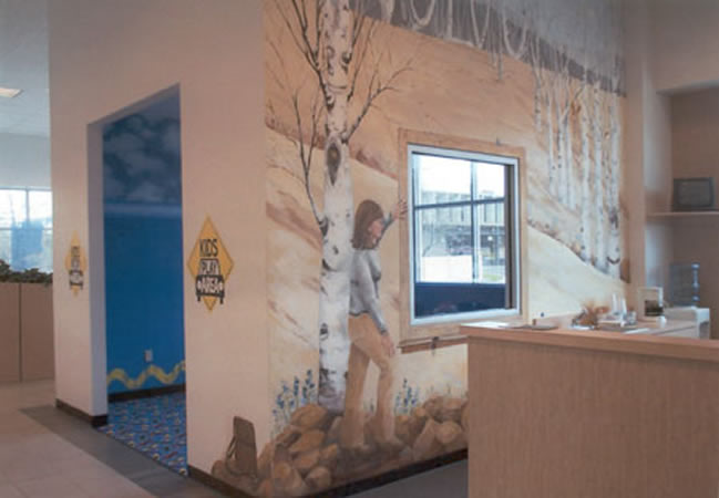 Central CT Volvo Dealership For Life activities mural
